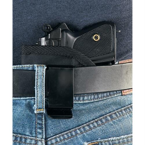 Small of the back concealment gun holster for S/&W 40VE with laser