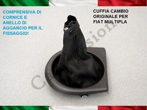 CUFFIA-CAMBIO-FIAT-MULTIPLA-ORIGINALE-IN-PELLE-CON-AGGANCI-gear-boot