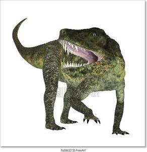 Home Decor Tyrannosaurus Dinosaur Art//Canvas Print Poster Wall Art