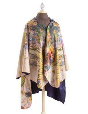 Victorian Trading Co Van Gogh Peonies /& Iris Floral Rain Poncho Cape