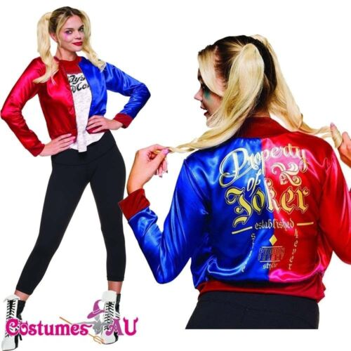 Ladies Deluxe Harley Quinn Top Harley Quinn/'s Jacket SUICIDE SQUAD Costume