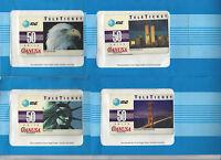 TK AT&T Telephonkarte / Phone Card TeleTicket Canusa Satz 50units (4) RAR !