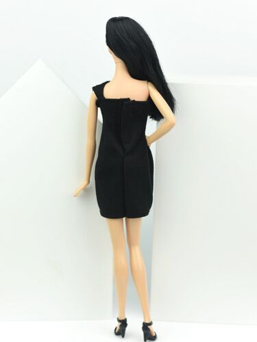 Little Black Dress For 11.5inch Doll One Piece Evening Dresses Clothes 1//6 toy