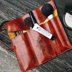 Vintage-style-ROLLUP-estuches-escolares-lapiz-bolso-resorte-bolsa-PU-Cuero-de