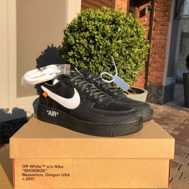 Nike Virgil 1 001 10 Cone Ao4606 Abloh Air Force The X Off Black White Low kXZuPi