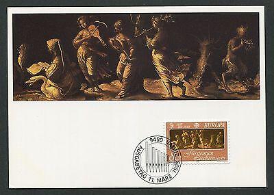 Fashion Style Liechtenstein Mk 1985 Europa Cept Musik Musik Carte Maximum Card Mc Cm D2429 100% High Quality Materials Stamps