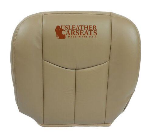 2003 2004 2005 2006 Chevy Silverado Driver Bottom Leather Seat Cover Tan