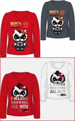 Hello Kitty KISS 104-164 Langarmshirt langarm Shirt Mädchen Kinder Sanio Rock