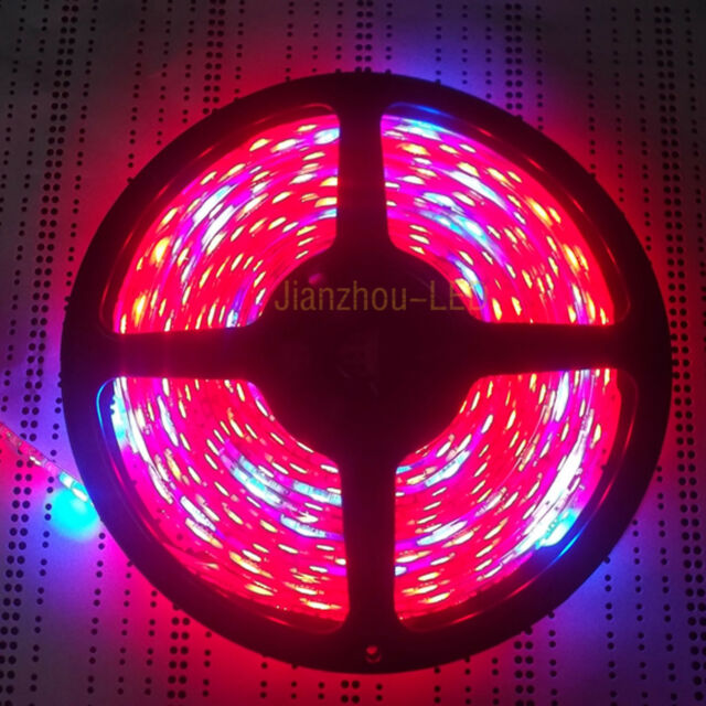 5M Plant Growing 7:1 RED BLUE 5050 LED Strip Light 300 Hydroponic Waterproof 12V