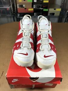 100% Authentic Nike Air More Uptempo Varsity Red Size 11 414962 100 ... 1b852667d