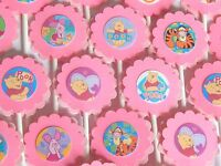 30 Pink Winnie The Pooh Cupcake Toppers Birthday Party Favors, Baby Shower 30