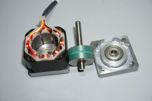 MOONS 0.9 Degree 35mm 2-Phase 4-Wire Stepper Motor 5mm Shaft Copper Pulley Robot