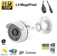Hd 720p 1mp Network Ip Outdoor Ir Bullet Camera Support Onvif, Mobile View 12vdc