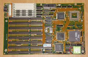 Intel-i486-486er-SX-20-MHz-4MB-SIMM-8x-ISA-16Bit-AT-Mainboard-SM-4249-Sockel4167