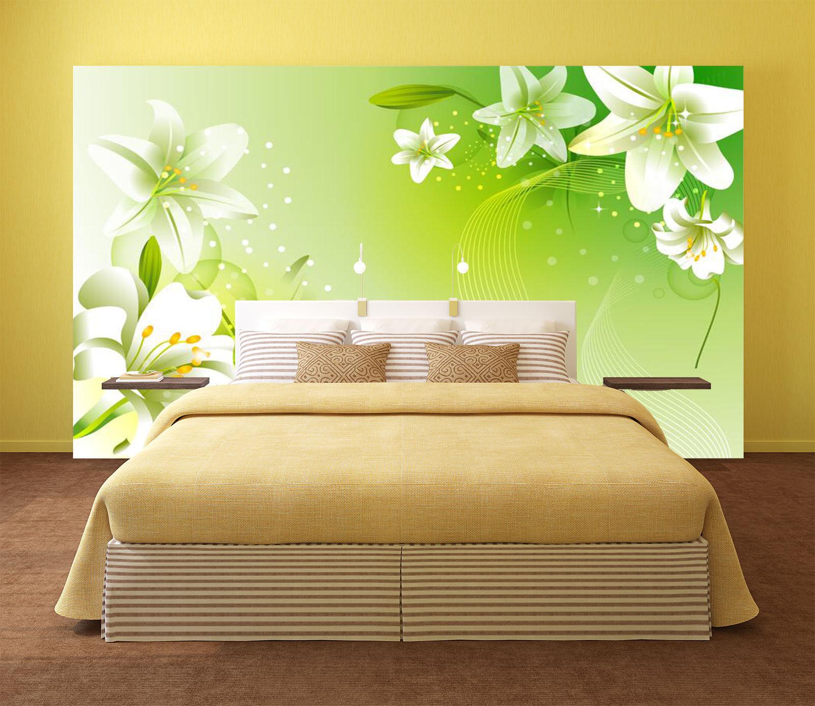 3D Weiß Lily Flower Plant 432 Wall Paper Wall Wall Wall Print Decal Wall AJ WALLPAPER CA 5b0260