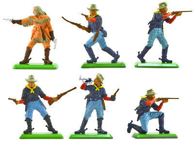Britains Deetail C.S.A Infantry 6 in 6 poses # 7440 ex-mint condition