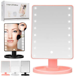16-LED-TOUCH-SCREEN-LIGHT-MAKE-UP-COSMETIC-TABLETOP-BATHROOM-VANITY-MIRROR