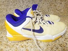 new style 5b627 119ea 2012 NIKE ZOOM KOBE VII SYSTEM LAKERS HOME 488371-101 MEN SIZE 9.5