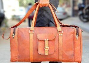 Vintage-Harrison-Leather-Duffle-Travel-Overnight-Weekend-Gym-Bag-Holdall-Luggage