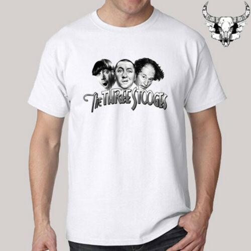 The Three Stooges Funny Movie Men/'s White T-Shirt Size S to 3XL