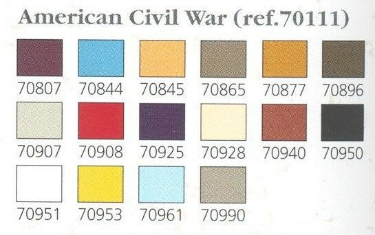 Val70111 model color set american civil war (x16) paints + FREE Brush