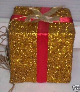 Pacchi Natale Luminosi.Dettagli Su Pacco Regalo Luminoso Natale