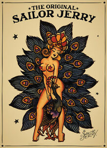 Sailor Jerry poster Tattoo Vintage lucky reproduction
