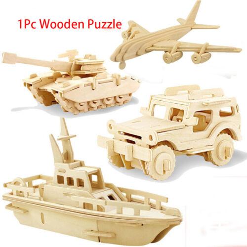 3D Wood Puzzles Children Adults Vehicle Puzzles Wooden Toys Assemble-Toy