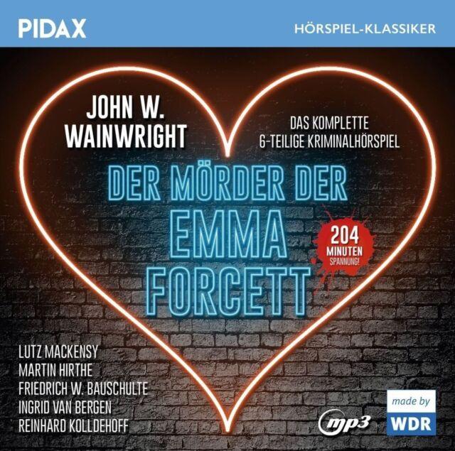 Der Mörder der Emma Forcett / 6-teiliges Kriminalhörspiel - Pidax mp3 CD/NEU/OVP