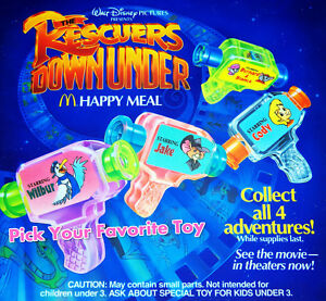 MIP-McDonald-039-s-1990-RESCUERS-DOWN-UNDER-Disney-FILMSTRIP-Viewer-View-Toy-CHOOSE