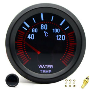 Temperatura-Acqua-Indicatore-Nero-Con-Sensore-52mm-Auto-Digitale-12V-Dc-Durevole