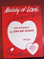 Melody of Love - 1959 sheet music - for Piano arr by Edna Mae Burnam