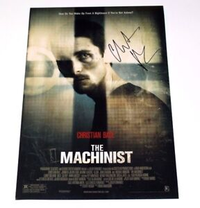 Christian Bale Signed The Machinist 12x18 Movie Poster Photo Wcoa