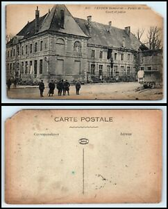 FRANCE-Postcard-Verdun-Bombarde-Court-Of-Justice-WWI-World-War-I-J23