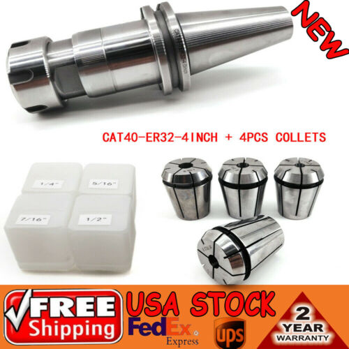 """CAT40-ER32 Floating Tap//Tapping Holder 4/"""" with 4pcs ER32 tap collets WELL SALE"""