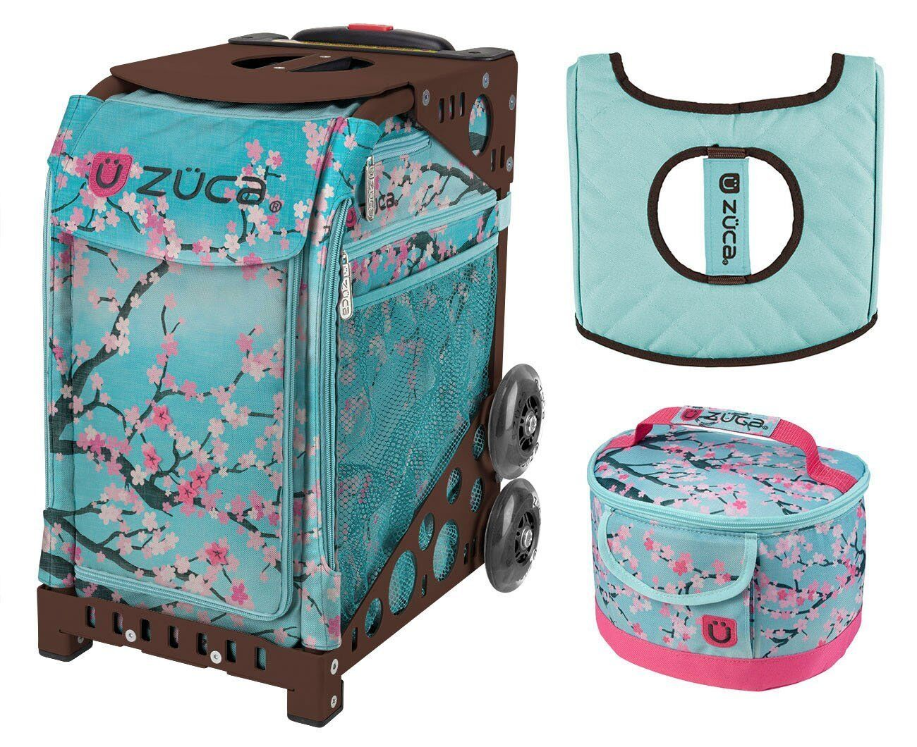 Zuca Sport Bag - Hanami with GIFT Lunchbox and Seat  Cover (Brown Frame)  low price