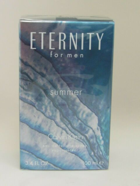 Calvin Klein  Eternity Summer 2013 Men's 3.4 oz/100 ml  EDT Spray New & Sealed.
