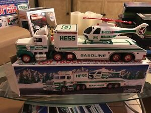 1995 Collectible Hess Gasoline Truck With Helicopter Ebay