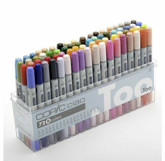 Copic I72B Ciao Markers Set B - 72 Piece from Japan