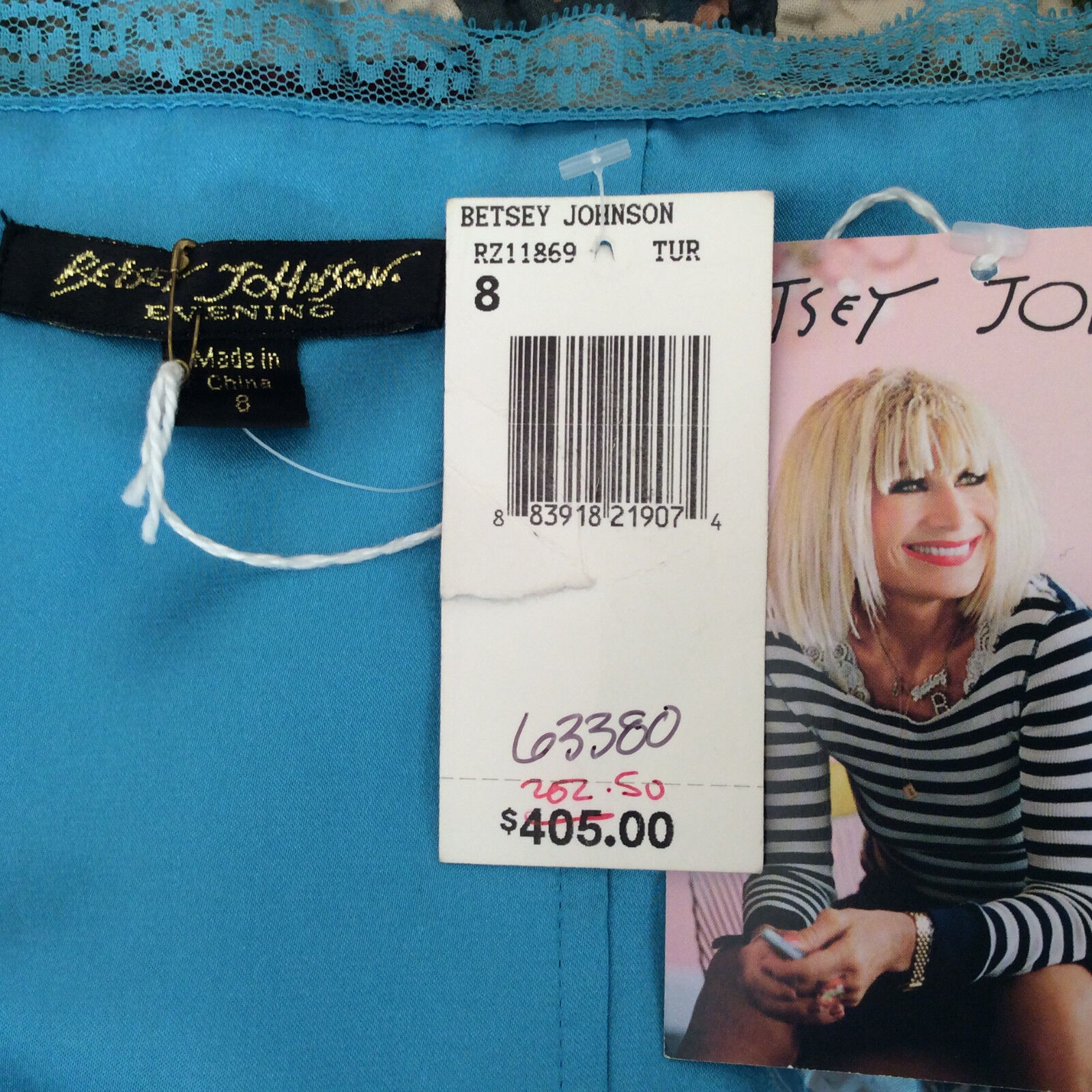 Betsey Johnson Teal Tiered Tiered Tiered Dress Size 8 NWT 1c3edf