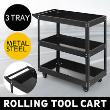 3-Tray Rolling  Storage Utility Tool Cart w//Wheels Restaurant Shelves Service