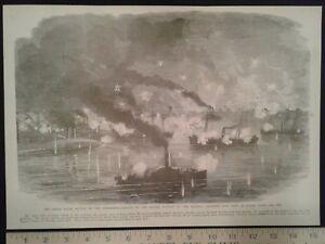 1896-Civil-War-Print-Naval-Battle-Mississippi-River-Civil-War-Generals