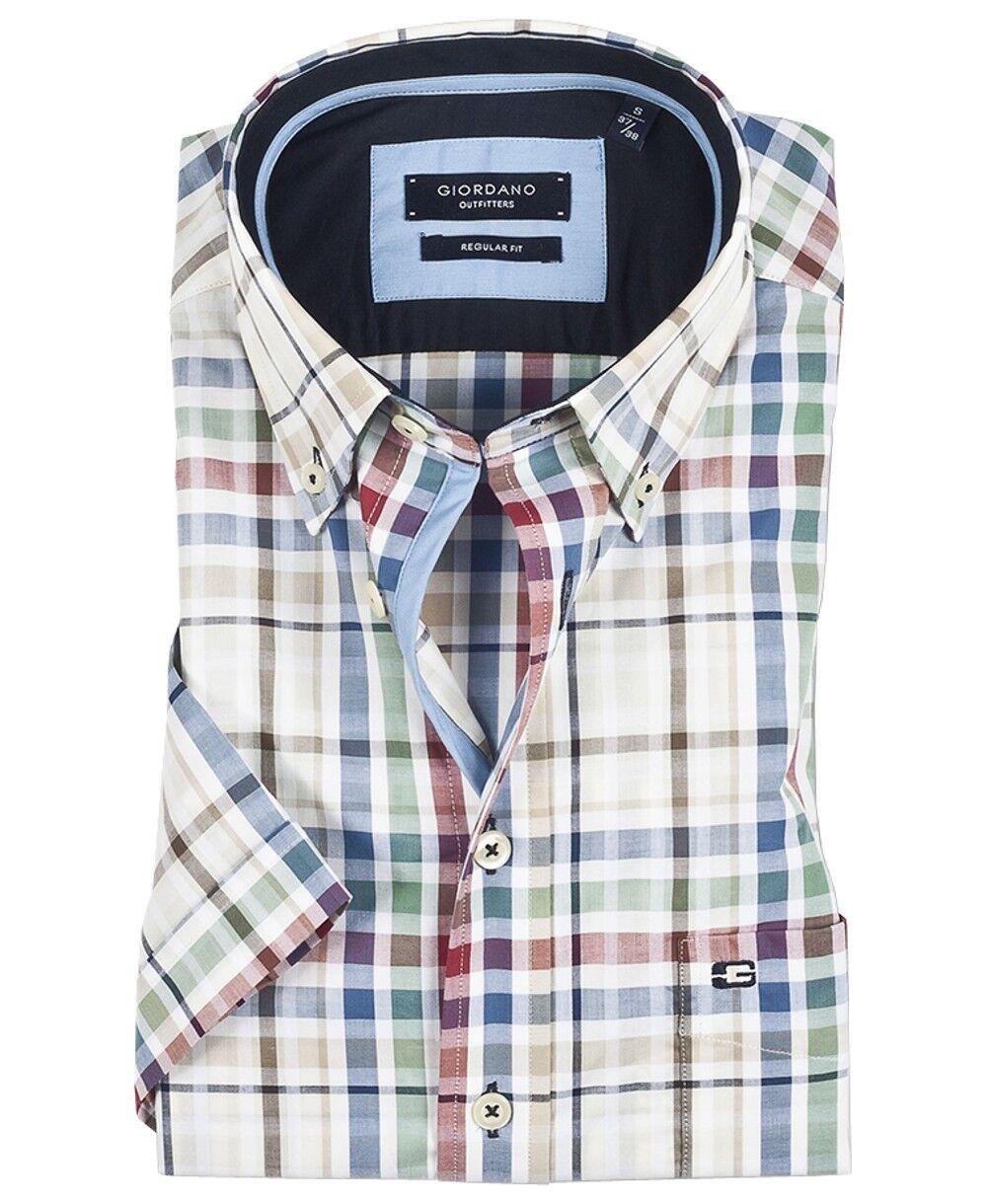 Giordano fushia Sunset hommeches courtes regular fit taille XL à 3xl Blanc Bleu Rouge Vert