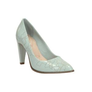 5 Rrp Aqua Poppy Women's £55 scarpe Patent Clarks 5 Court Leather azizi Uk 6Zqxvwa