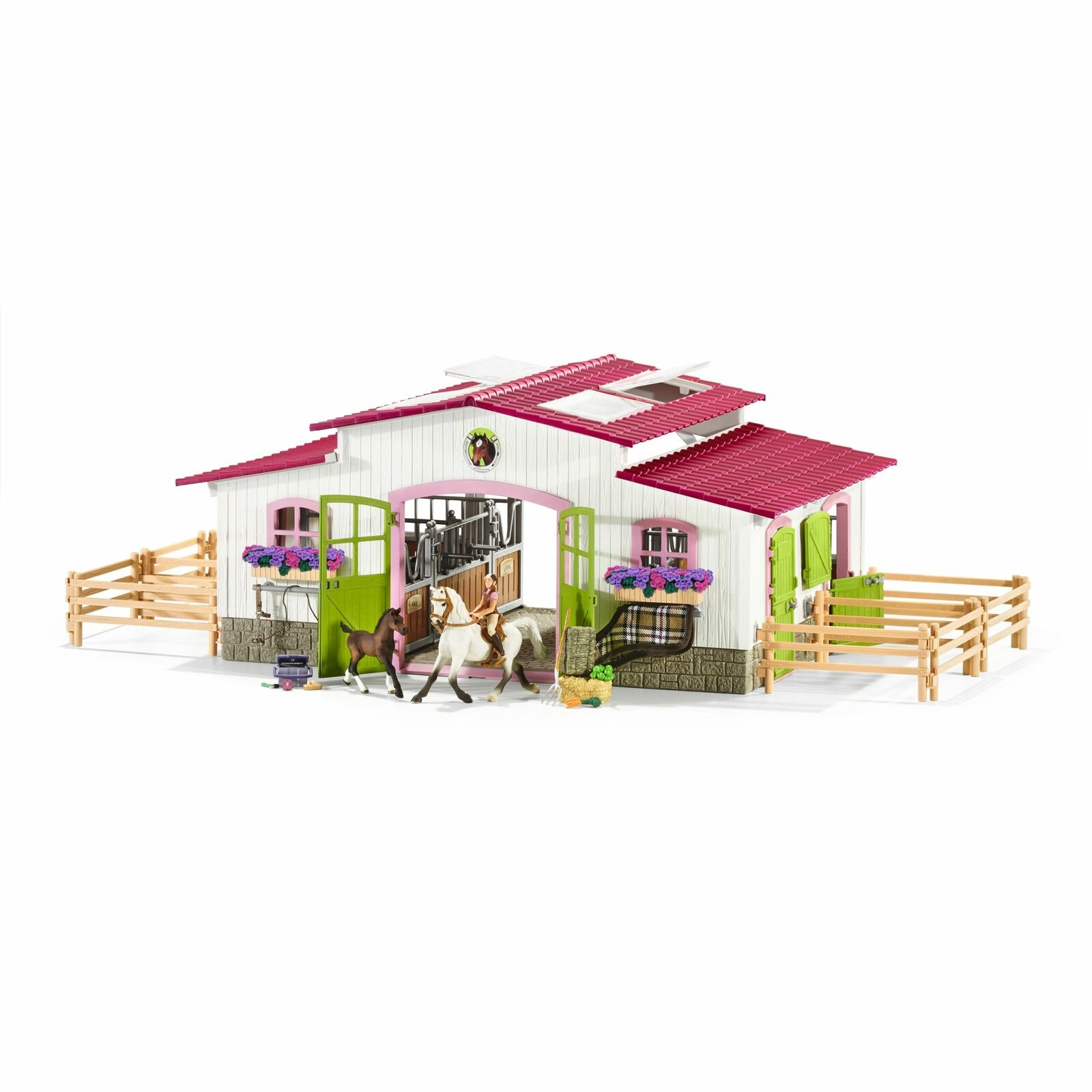Riding Centre Equestrian with Horses & Rider - Schleich - 42344 Playset NEW