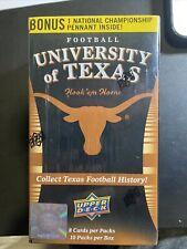 Blaster Box NCAA University of Texas Upper Deck Trading Cards