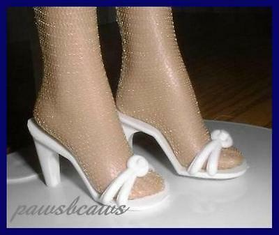 """WHITE High Heels Sandals Doll SHOES for 16/"""" ELLOWYNE Marley TYLER WENTWORTH"""