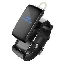 Smart Bluetooth DF22 Headset Earphone Bracelet 2-in-1 Wrist for Android Black