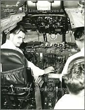 Photo: Howard Hughes In Cockpit Of TWA Constellation, 1947
