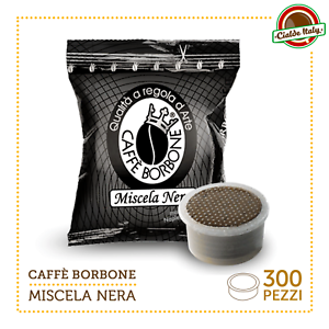 300-Cialde-Capsule-Caffe-Borbone-Miscela-Nera-Nero-comp-Lavazza-Espresso-Point